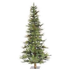 Artificial Fraser Fir Christmas Tree Sale by Vickerman Ashland Wood Trunk Tree With Tips An 6 U0027 Green Fir