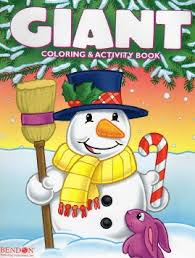 Get Quotations Christmas Edition Giant Coloring And Activity Book 160 Page Winter Holiday