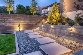 where did you get the lights on the retaining wall