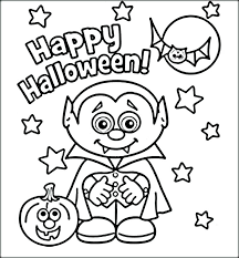 Happy Halloween Coloring Pages Free Printable Pretentious Idea