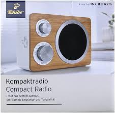 tcm tchibo tragbares bambus kompakt radio aux anschluß