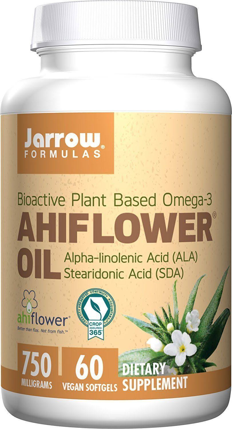 Jarrow Formulas Ahiflower Oil Dietary Supplement - 60 Vegan Softgels