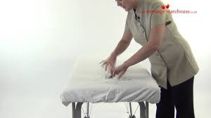 Sofa Headrest Covers Uk by Fitted Couch Cover Demo For Massage Tables From Massage Warehouse