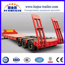 100 Truck Axles For Sale China 3 Heavy Equipment Transport Low Bed Semi Trailer