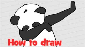 How To Draw Panda Dab Step By