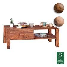finebuy couchtisch massivholz sheesham design wohnzimmer tisch 110 x 60 cm 1 schublade landhaus stil holztisch rechteckig natur produkt