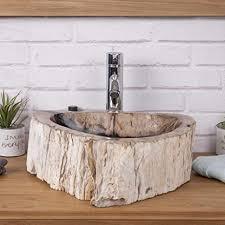 badezimmer aufsatzwaschtisch aus stein holz wald