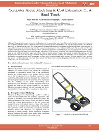 Computer Aided Modeling Cost Estimation Of A Hand Truck | 3 D ... Raymond 8310 Walkie Pallet Jack Electric 001 Hand Truck 6 Wheel Stair Climbing Tool Trolley Buy Eco Efet33sc Sfpropelled Weigh Scale Mobile Powered Mini 15t Engine By Heli Uk Folding Hand Truck For Stairways Transportation Motorized Powermate Electric Stairclimbing Trucks Blog Powered Rider Material Handling Equipment Used Yale Motorized Handpallet Multimover Youtube Transaxle Assembly Mpw 060080e Trucks 6000 8000 Lbs Mpwe