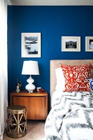 A Cool Calm And Cobalt Bedroom Blue WallsRed