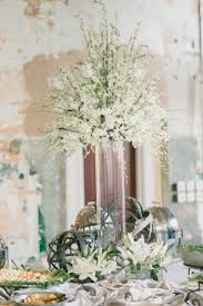 Young Flower Girl Dress Tall Elegant White Wedding Centerpiece