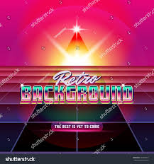 New Retro Wave Background Synthwave Design And Elements Isolated Artwork Object Suitable
