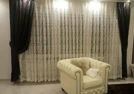 wohnzimmer gardine vorhang glitzer geriffelt weiß