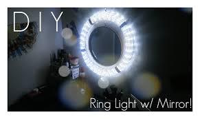 diy ring light with mirror