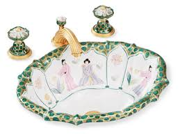 Sherle Wagner Italy Sink by Chinoiserie Sink By Sherle Wagner Use In Powder Room Bathrooms