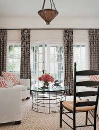 window treatments for wide windows Family Room Farmhouse with