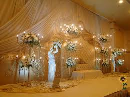 Flower Wedding Stage Decoration With Flowers And Lights Decorators In Hyderababd Shobhaus U Sindyan Event Organizing