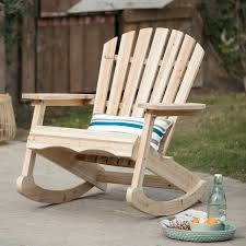 Coral Coast Outdoor Adirondack Rocking Chair - Unfinished In ... Black Palm Harbor Wicker Rocking Chair Abasi Porch Rocker Unfinished Voyageur Twoperson Adirondack Appalachian Style Chairs Havenside Home Del Mar Acacia Wood And Side Table Set Natural Outdoor Log Lounge Companion For Garden Balcony Patio Backyard Tortuga Jakarta Teak Palmyra Gliders Youll Love In Surfside Unfinished Childrens Rocking Chair Malibuhomesco Caan