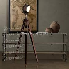 photographers tripod floor l home decor rh vintage loft machinery industry tripod floor l living room