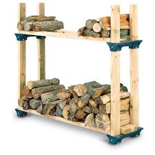 simple and easy diy outdoor firewood rack storage with bracket ideas