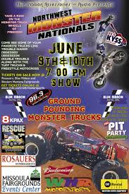 Monster Trucks 06/10/2017 Missoula, Montana, Missoula Fairgrounds ... Serra Chevrolet Of Saginaw Is A Dealer And New Kicker Monster Truck Nationals Friday At Lea County Event Center Aussie Monsters Emt Events Slam Trucks Dow Toughest Tour March 7th 1pm Jam Antwerp Us Bank Stadium My Bob Country Madness Visit Sckton State Farm 101
