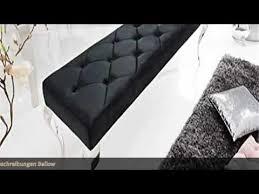 dunord design sitzbank schwarz barock samt edelstahl modern