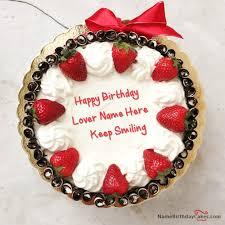 birthday cake for boyfriend with name