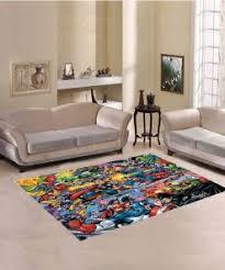 gegen justice league teppich wohnzimmer