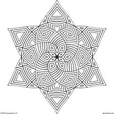 Design Coloring Pages Picture Printable Geometric Easy Rangoli Sheets Designs Full Size