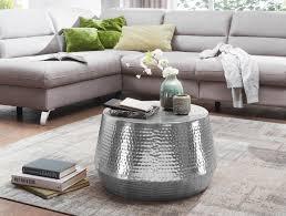 couchtisch wohnzimmertisch 60cm aluminium silber design