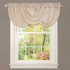 Amazon Yellow Kitchen Curtains by Amazon Com Lush Decor Lucia Valance White Home U0026 Kitchen