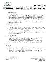 Objective Resume Examples For Students Example Career Samples Of Objectives Resumes Good