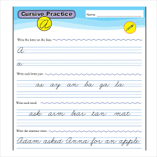 Cursive Writing Practice Template In PDF