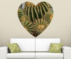 kakteen als herz wandbild kaktus wandaufkleber grüner stachelkaktus wandsticker wohnzimmer aufkleber sticker 11d172 wandtattoos und leinwandbilder