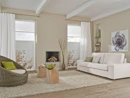 wohnzimmer plissee weiss schlicht vielfältige plissees