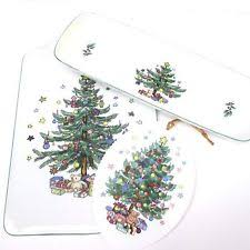 Cracker Barrel Ceramic Christmas Tree Replacement Bulbs by Ceramic Christmas U0026 Winter Table Serving Trays Pieces Ebay