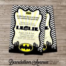 Black Chevron Little Super Hero Baby Shower Invitation With Yellow