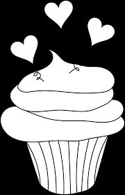 cupcake outline clipart black and birthday cupcake clipart outline clipartpig cupcake outline clipart black and