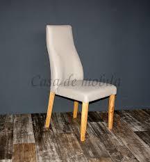 esszimmerstuhl sitz und rücken gepolstert leder beige eiche geölt