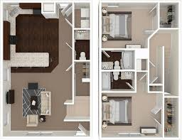 Bathroom Floor Plans With Washer And Dryer by Floorplans Outpost Fort Collins Csu 2 3 4 U0026 5 Bedroom Layouts
