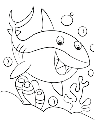 Full Image For Free Coloring Pages Shark Tale Printable Of Sharks Great White