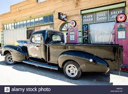 100 Truck Town Classic Old American Pickup Truck On An Old Smalltown Street In