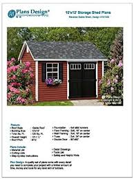 deluxe shed plans 10 x 12 reverse gable roof style material