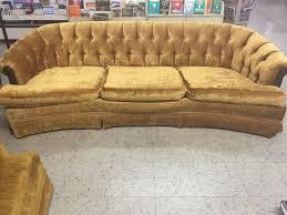bassett vintage chesterfield gold sofa hollywood regency wedding