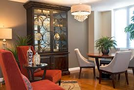 china cabinet ideas with white pendant light dining room