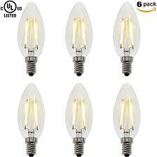 zz lighting 2w led filament torpedo tip candle light bulb 20w