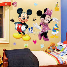 Minnie Mouse Bedroom Decor by Aliexpress Com Buy Mickey Mouse Minnie Vinyl Mural Wall Sticker