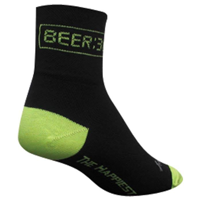 SockGuy Men's Beer 30 Socks - Black, Large and X-Large