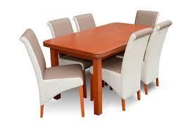 moderne holz tisch und stühle garnitur esszimmer set polster 6x stuhl tische neu