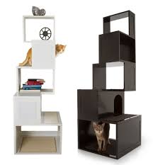 modern cat tower sebastian modern cat tree supercoolpets cool pets