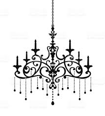 A Fancy White Chandelier On Black Background Chandeliers